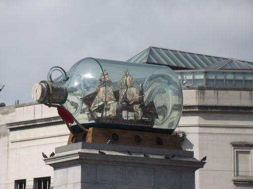 valtis,butelis,paminklas,meno,meno kūriniai,miesto aikštė,Trafalgaro aikštė,Londonas,uk