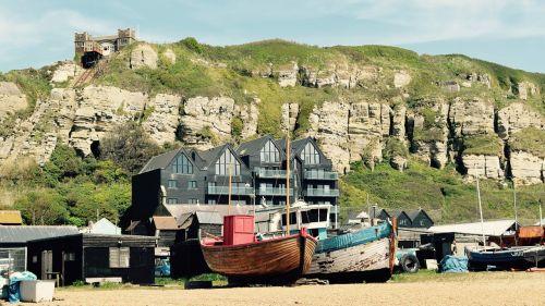 valtys,žvejyba,f,žvejybos laivas,papludimys,žvejys,Hastings,nameliai,žvejybos nameliai,kranto,jūrų,pakrantė