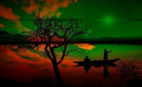 valtys,fischer,svajones,saulėlydis,žalias,ežeras,boot,medis,žvejybos laivas,fikcija,šešėlis,fantazija,svajonė,nerealu,prašymas,drambliuko svajonės,troškimas,ilgesys,pretenzija,utopija