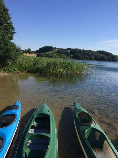 ežeras, valtys, vanduo, šventė, žvejyba, kelionė, valtys ant ežero