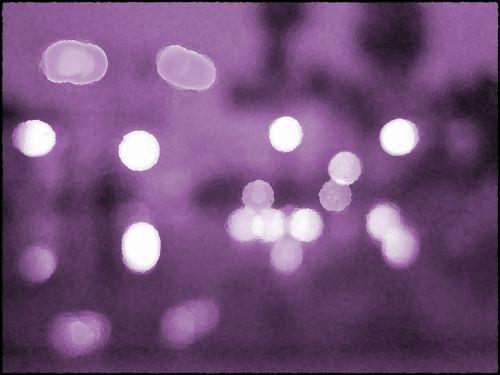 žibintai, neryškus, Bokeh, fonas, violetinė, bokeh su gelsva fone