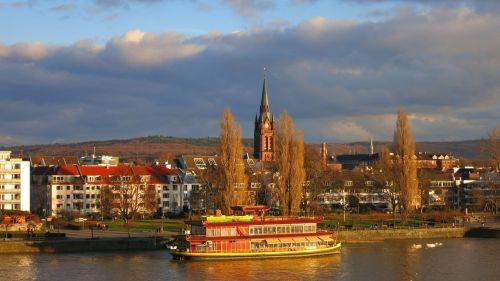 bonas,Reino upė,laivas,rinas,upė,architektūra,panorama