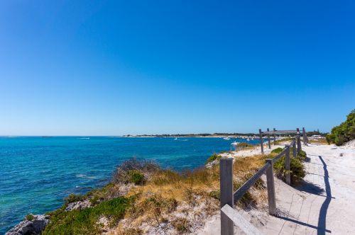 užsakytas,rottnest sala,rottnest,Wadjemup,australia,Vakarų Australija,wa,Vakarų Australija,jūra,vandenynas,iceland,sala,papludimys,krūmas,bushland,Rokas,kraštovaizdis,gamtos rezervatas,takas,požiūris,gamta,žygiai,toli,tvora,mediniai laiptai