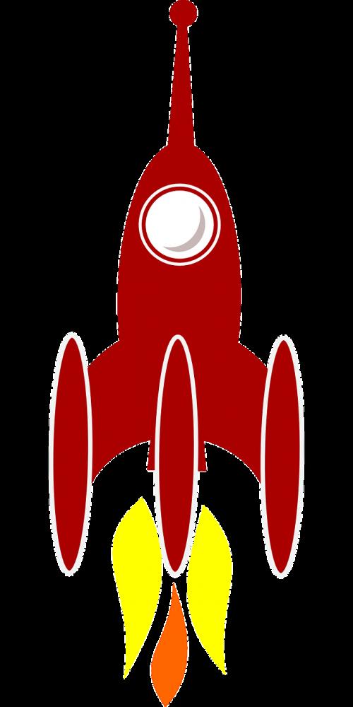 Stiprintuvas, Kosminis, Raketa, Erdvė, Gabenimas, Erdvėlaivis, Erdvėlaivis, Raketa, Paleidimas, Pakilimas, Nemokama Vektorinė Grafika