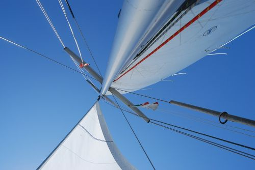 boot,burinė valtis,stiebas,buriu,laivo stiebas,vasara,saulė,saulės šviesa
