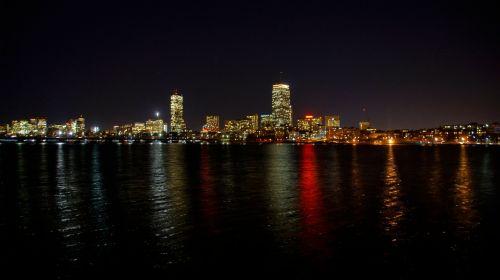 Bostonas,Charles upė,Massachusetts,upė,panorama,vanduo,dangoraižiai