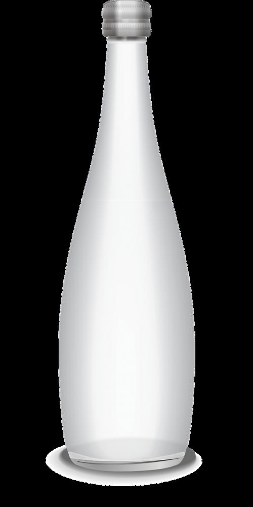 butelis,vektorius,vandens butelis,stiklinis butelis,stiklas,permatomas butelis,vandens indas,nemokama vektorinė grafika