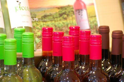 buteliai,spalvinga,vynas,stiklas,spalva,gaudy,raudona,žalias