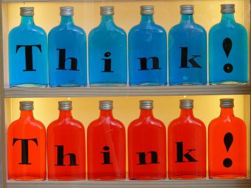 buteliai,įspaudas,stiklas,galvoti,mėlynas,raudona,spalvinga,spalva,gaudy