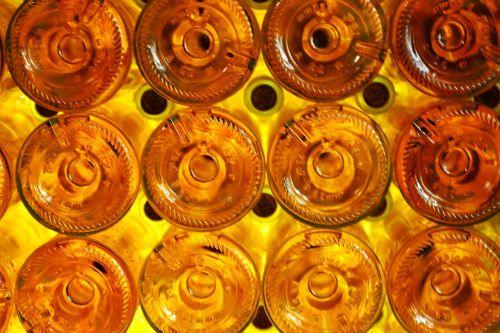 buteliai,baltas vynas,monbazillac,urvas,gintaras,geltona,oranžinė