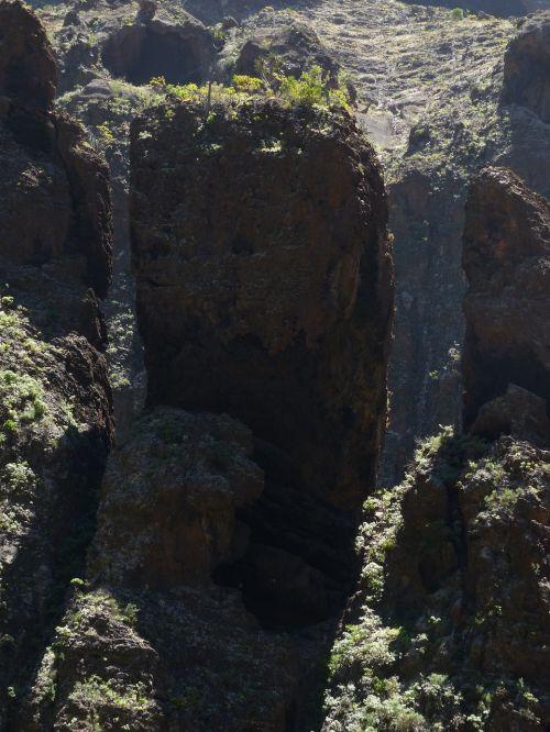 rieduliai,Rokas,maska ravis,Gorge,žygis,Tenerifė,Kanarų salos,kalnai,Teno kalnai