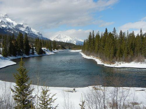 lankas upė,canmore,Alberta,upė,lauke,gamta,Kanada