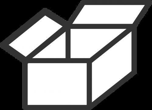 dėžė,tuščia,atviras,kartonas,siuntas,nemokama vektorinė grafika