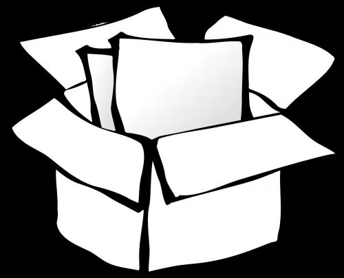 dėžė,paketas,kartonas,atviras,siuntas,nemokama vektorinė grafika
