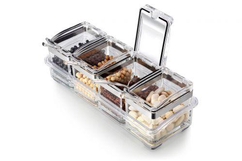 dėžė, prieskoniai, pupos, plastikinė dėžė, skaidri dėžutė, Produktai, plastmasinis, atidaryta dėžė, angos