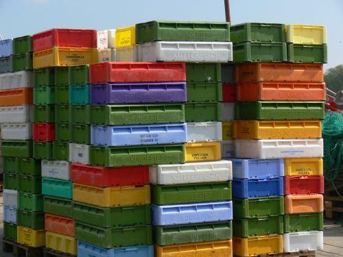 dėžės,dėžė,žuvis,uostas,saugojimas,krūvos dėžės,sutraukti kartu,virimo dėžės,transportas,transporto dėžės,plastmasinis,spalvinga