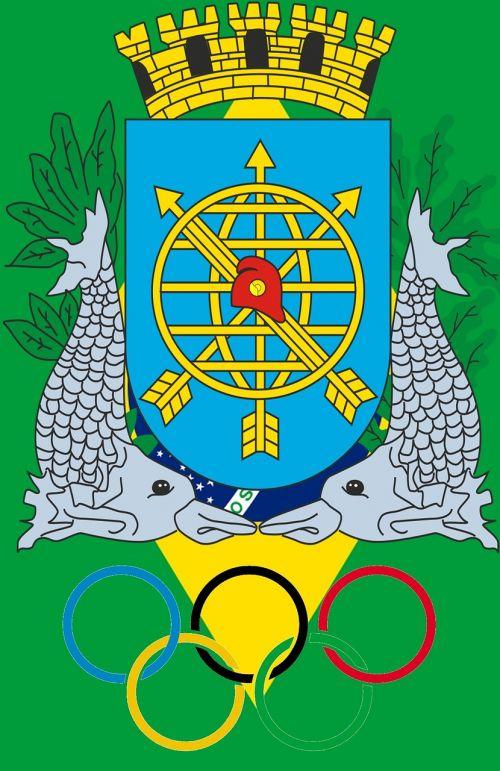 Brazilija,Rio de Žaneiras,vasaros olimpinėse žaidynėse,2016,herbas,olimpiniai žiedai,olimpiada,sporto varžybos,jaunimas,pasaulis,sporto jaunimas,Draugystė,Sportas