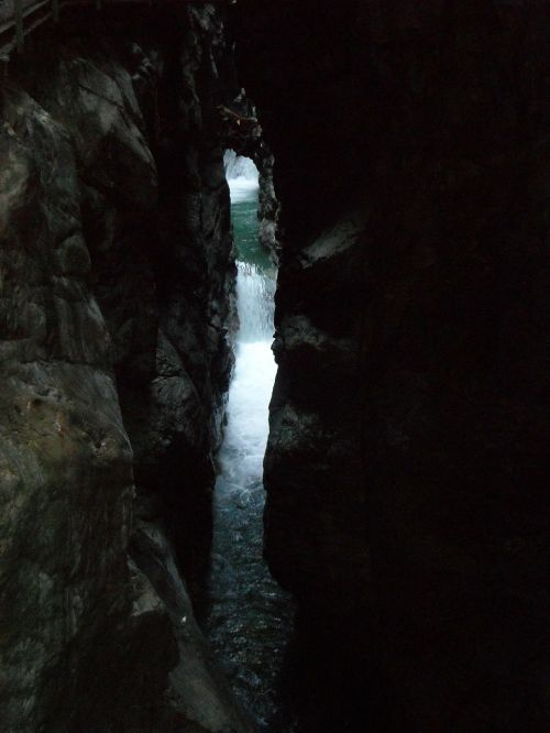 Breitachklamm,Allgäu,Gorge,Rokas,siaura,eng,kalnų upelis