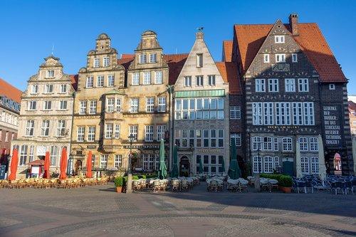 Brėmenas, Marketplace, istorinis centras, architektūra, Miestas, kelionė, namas, statyba, Lankytinos vietos, Turizmas, senas pastatas, istoriškai, Vokietija, istorinis senamiestis, istorinis pastatas