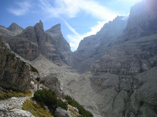 brenta,kalnai,Alpių,alpinizmas,bergsport,žygiai,pasivaikščiojimas