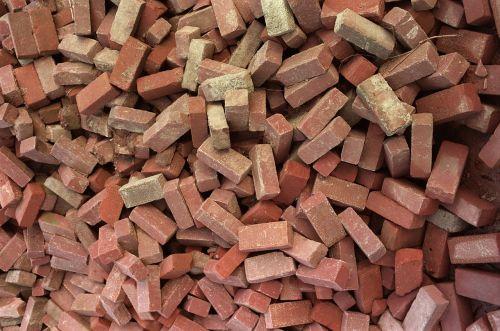 plytos, krūva, raudona, statyba, krūva, daug, pastatas, krūva, industrija, ruda, senas, medžiaga