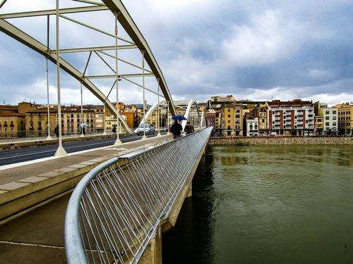 tiltas, upė, architektūra, Vandens telkinys, dangus, Miestas, Riu Ebre, Ebro upės, Tortosa, Ispanija, lauke
