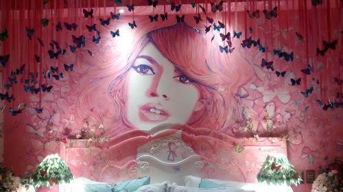 Brigitte Bardot,poros kambarys,apdaila,tema,rožinis,atsitiktinai,kambarys