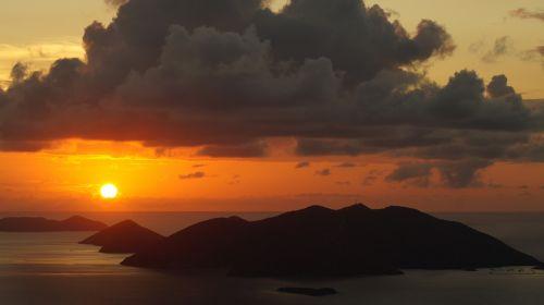 Britanijos mergelių salos,saulėlydis,karibai,salos,kelionė,kraštovaizdis,kalnas