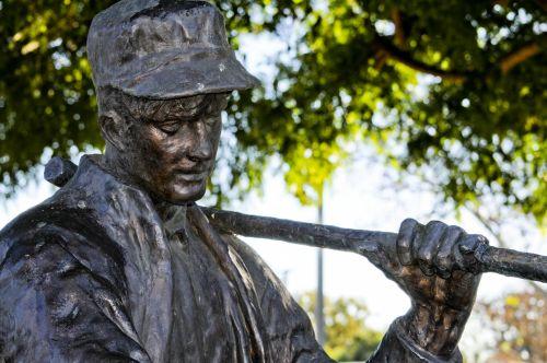 skulptūra, bronza, david & nbsp, burbank, Burbank & nbsp, Kalifornija, bronzinė david burbank skulptūra