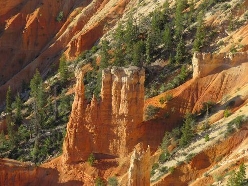 Bryce kanjonas,žygiai,dykuma,Utah,oranžinė