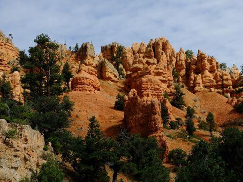 Bryce kanjonas,kanjonas,kraštovaizdis,usa,uolos,dykuma,Nacionalinis parkas,amerikietis,Jungtinės Valstijos,hoodoos,akmenys,parkas,Utah,dykumos panorama,Bryce
