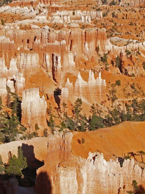 Bryce Kanjonas, Utah, Usa, Pietvakarių Usa, Erozija, Nacionalinis Parkas, Gamta, Kraštovaizdis, Peizažas, Pinnacles, Smėlio Akmuo, Raudona, Akmenys, Turistų Atrakcijos