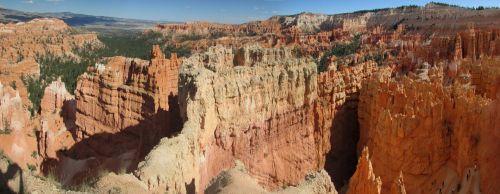 Bryce & nbsp, kanjonas, Platus ekranas, nacionalinis & nbsp, parkas, Utah, amerikietis, gamta, spalvinga, brice & nbsp, kanjonas, tapetai, Bryce, kanjonas, Bryce Canyon panoraminis vaizdas