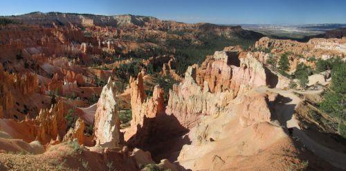 Bryce, kanjonas, Platus ekranas, nacionalinis, parkas, Utah, amerikietis, gamta, spalvinga, Bryce, tapetai, Bryce Canyon plačiaekranis