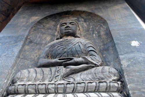 buda, akmuo, drožyba, iškirpti, religija, statula, Budos drožyba