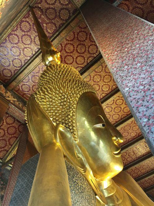 buda,Tailandas,asija,auksas,budizmas,šventykla,į pietryčius,didelis,didelis,didžioji buda,ramybė,auksinė buda,šventė,skulptūra,figūra,Bangkokas