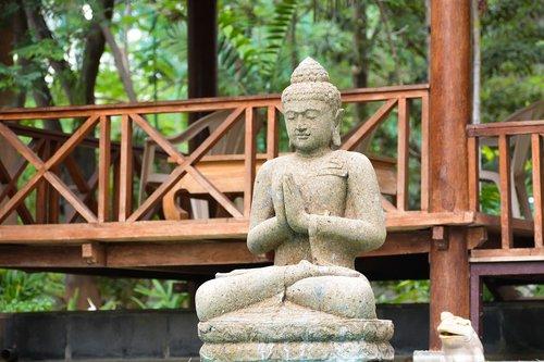 buda, melstis, taika, ramybė, meditacija, skulptūra, statula, melstis, garbinimas, kultūra