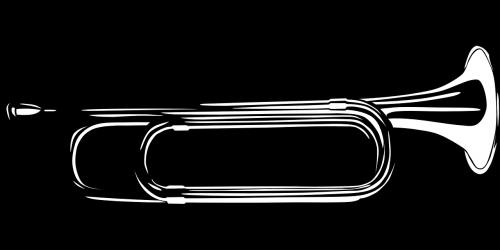 bugle,muzikinis,instrumentas,juoda ir balta,Žalvaris,paprastas,Pastabos,harmonikų,serijos,vintage,nemokama vektorinė grafika