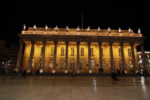 pastatas,apšviestas,apšviestas,naktis,miesto,eksterjeras,apšvietimas,bordo,aquitaine,france