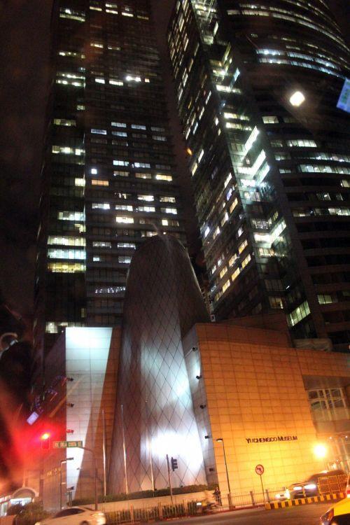 pastatai, struktūra, biuras, vieta, architektūra, naktis, žibintai, miestas, pastatai