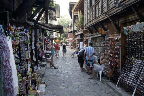 Bulgarija,Senamiestis,gatvė,turgus,stendas,pardavėjas,gatvės turgus,dangas,paminklas