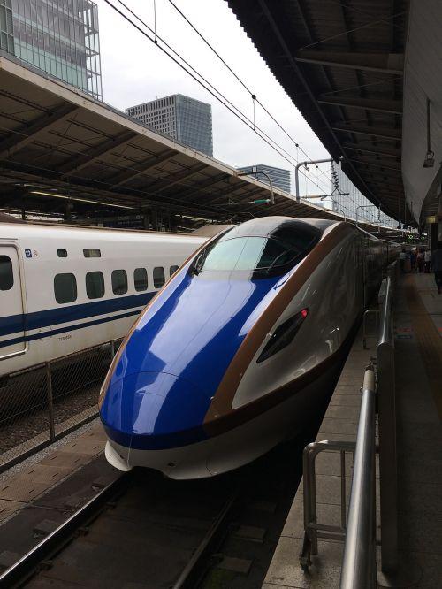Kulkų traukinys,e7 · w7,hokuriku shinkansen,jr rytus,Jr Vakarų,Tokijo stotis