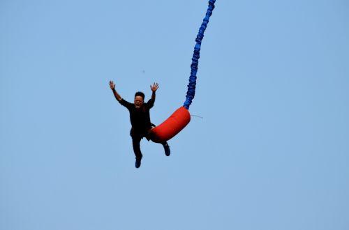 sportas, bungee, bungee & nbsp, šokinėja, šokinėti, pavojus, kritimas, kritimas, dangus & nbsp, div, lynai, laidas, linksma, megztinis, Bungee jumping (a)