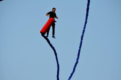 sportas, bungee, bungee & nbsp, šokinėja, šokinėti, pavojus, kritimas, kritimas, dangus & nbsp, div, lynai, laidas, linksma, šokinėjimas guma
