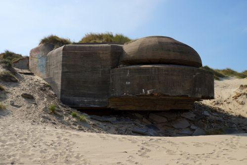Bunkeris, France, Normandija, Plūduriuotos Kopos, Dunkirk, Dunkerque, Atlantic Wall, Papludimys, Smėlis, Gynyba, Karas, D Diena, Antrasis Pasaulinis Karas, Pasaulinis Karas, Prancūzų Pakrantė, Jūra