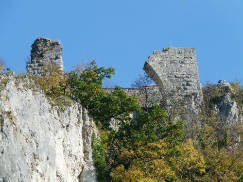burgūrijos,sugadinti,Torborgenas,žlugo,sugadinti hohengerhausen,pilis,pilies griuvėsiai,rusenschloss,aukštis burg,gerhausen,blaubeuren,alb donau ratas,baden württemberg