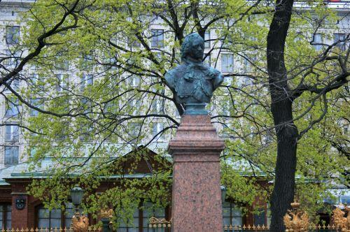 statula, biustas, tzar, monarchas, peter & nbsp, puikiai, Rusija, Tzaro Petro biustas didysis
