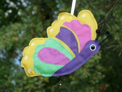 drugelis,spalvinga,linksmas,windspiel,figūra,Pasidaryk pats