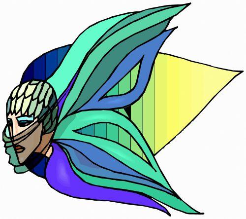 drugelis, fantazija, spalvos, gyvūnas, iliustracija, vabzdys, menas, meno kūriniai, šiuolaikiška, kūrybiškumas, išraiška, drugelis moteris 2