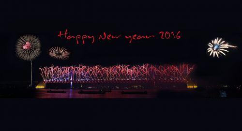 Byeongsinnyeon,2016,Naujųjų metų sveikinimas,liepsna,festivalis,naktinis vaizdas,naktinis dangus,jūra,tiltas,fejerverkų festivalis,blaze,naktinis dangus